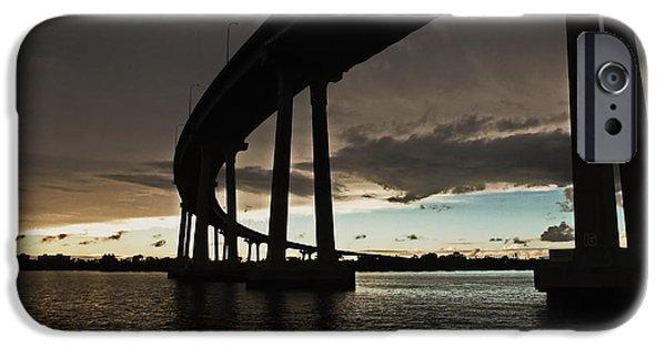 Bay Bridge iPhone Cases - San Diego Bay Bridge iPhone Case by Russ Harris