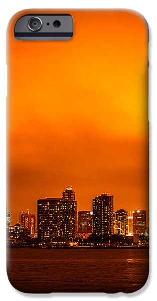 San Diego Cityscape at Night iPhone Case by Paul Velgos