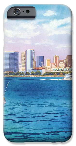 San Diego Skyline and Convention Ctr iPhone Case by Mary Helmreich