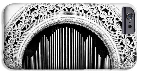 Balboa iPhone Cases - San Diego Spreckels Organ iPhone Case by Christine Till