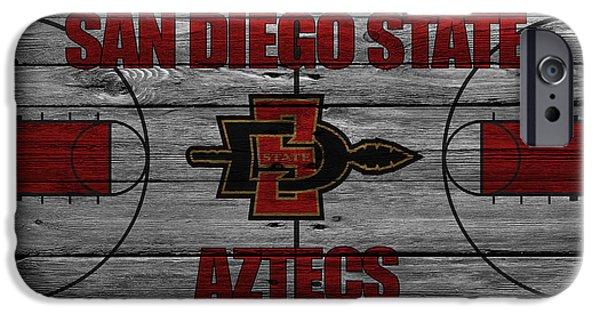 Dunk iPhone Cases - San Diego State Aztecs iPhone Case by Joe Hamilton