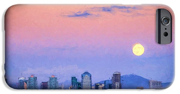 United iPhone Cases - San Diego Supermoon Digital Photo Art iPhone Case by Duane Miller