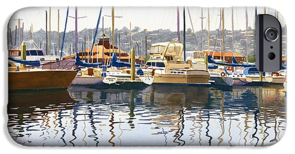 Sail Boat iPhone Cases - San Diego Yacht Club iPhone Case by Mary Helmreich