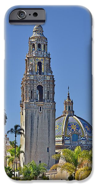 Tall Trees iPhone Cases - San Diegos pride - Balboa Park iPhone Case by Christine Till
