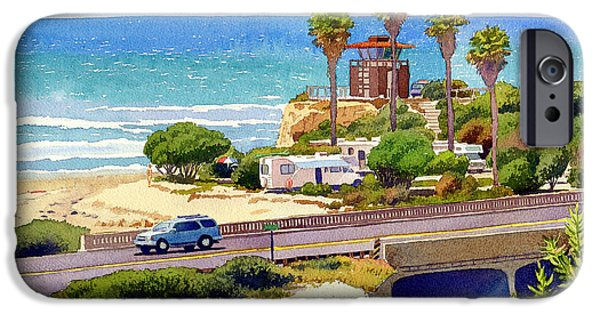 Guard iPhone Cases - San Elijo Campground Cardiff iPhone Case by Mary Helmreich