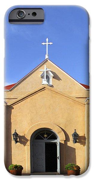 San Felipe Church - Old Town Albuquerque   iPhone Case by Mike McGlothlen