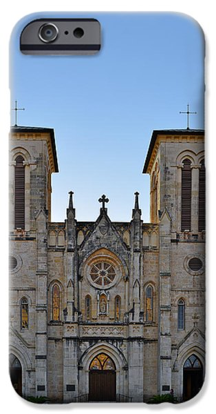 Chapels iPhone Cases - San Fernando Cathedral - San Antonio TX iPhone Case by Christine Till