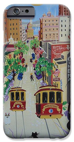San Francisco Street iPhone Cases - San Francisco, 2012 Acrylic On Canvas iPhone Case by Herbert Hofer