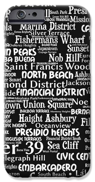 San Francisco 20130710bw iPhone Case by Wingsdomain Art and Photography