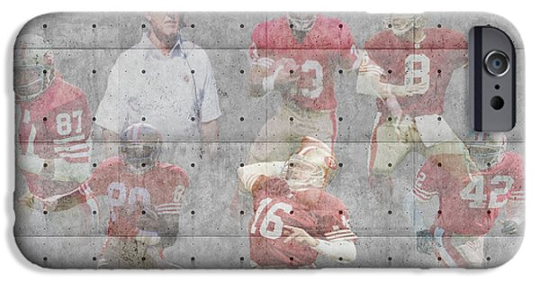 Recently Sold -  - Santa iPhone Cases - San Francisco 49ers Legends iPhone Case by Joe Hamilton