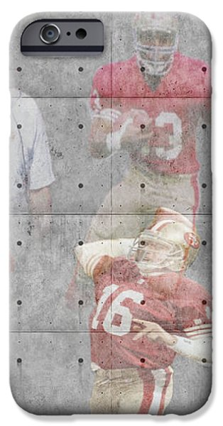 SAN FRANCISCO 49ERS LEGENDS iPhone Case by Joe Hamilton