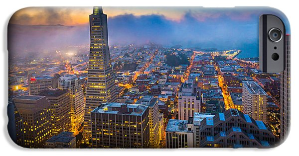 Bay Area iPhone Cases - San Francisco After Dark iPhone Case by Inge Johnsson