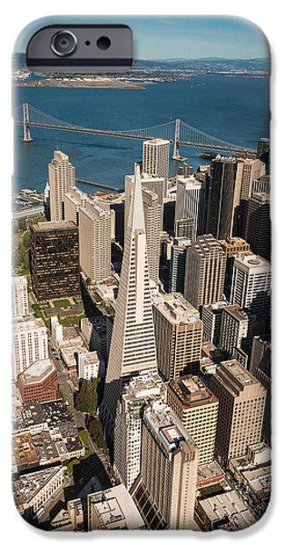 Bay Bridge iPhone Cases - San Francisco Aloft iPhone Case by Steve Gadomski