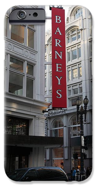 San Francisco Barneys Department Store - 5D20544 iPhone Case by Wingsdomain Art and Photography