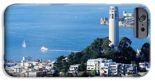 Alcatraz iPhone Cases - San Francisco Ca iPhone Case by Panoramic Images
