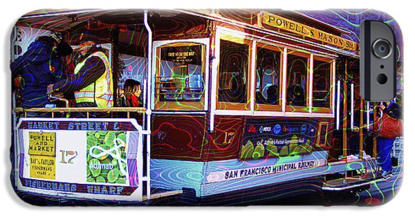 Bus In San Francisco iPhone Cases - San Francisco Cable Car No. 17 iPhone Case by Daniel Hagerman