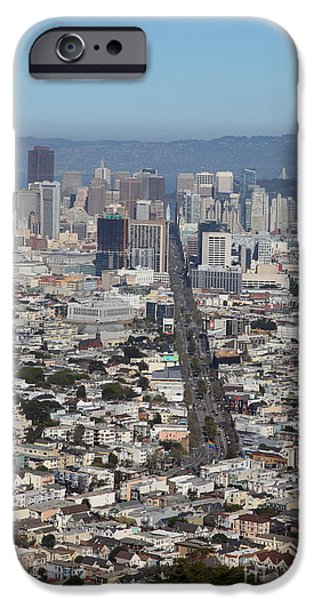 Birdseye iPhone Cases - San Francisco California From Twin Peaks 5D28037 iPhone Case by Wingsdomain Art and Photography