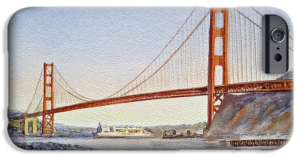 Best Sellers -  - Bay Bridge iPhone Cases - San Francisco California Golden Gate Bridge iPhone Case by Irina Sztukowski