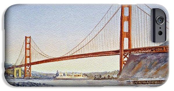 Bay Bridge iPhone Cases - San Francisco California Golden Gate Bridge iPhone Case by Irina Sztukowski