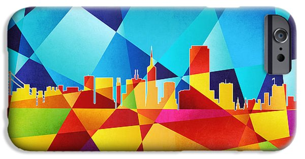 San Francisco iPhone Cases - San Francisco California Skyline iPhone Case by Michael Tompsett