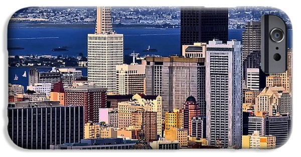 City Scape Digital Art iPhone Cases - San Francisco iPhone Case by Camille Lopez
