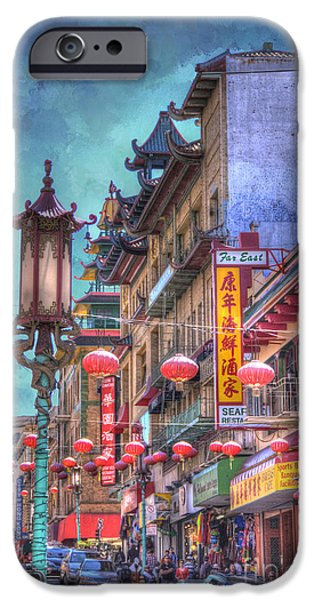 San Francisco Street iPhone Cases - San Francisco Chinatown iPhone Case by Juli Scalzi