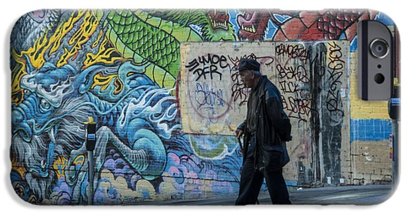 Mural Photographs iPhone Cases - San Francisco Chinatown Street Art iPhone Case by Juli Scalzi