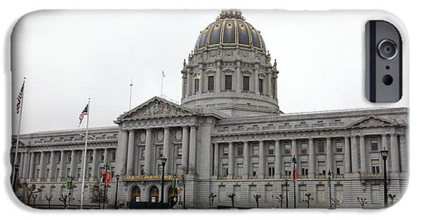 Palatial iPhone Cases - San Francisco City Hall 5D22467 iPhone Case by Wingsdomain Art and Photography