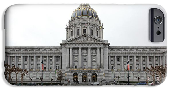 Palatial iPhone Cases - San Francisco City Hall 5D22469 iPhone Case by Wingsdomain Art and Photography