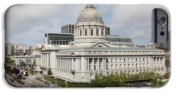 Palatial iPhone Cases - San Francisco City Hall 5D22505 iPhone Case by Wingsdomain Art and Photography
