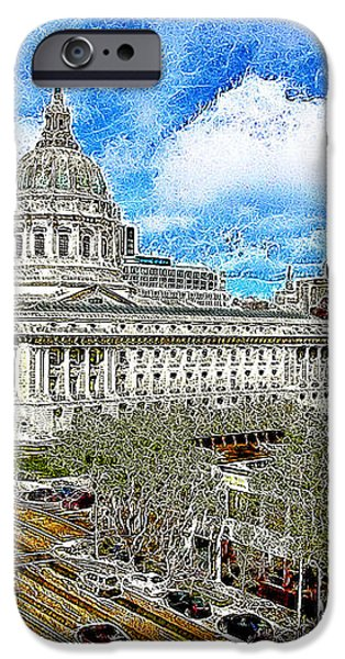 San Francisco City Hall 5D22507 Photoart iPhone Case by Wingsdomain Art and Photography