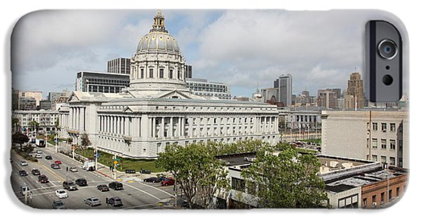 Palatial iPhone Cases - San Francisco City Hall 5D22507 iPhone Case by Wingsdomain Art and Photography