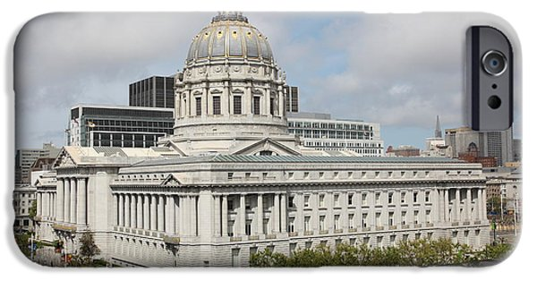 Palatial iPhone Cases - San Francisco City Hall 5D22510 iPhone Case by Wingsdomain Art and Photography