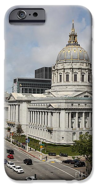 Palatial iPhone Cases - San Francisco City Hall 5D22513 iPhone Case by Wingsdomain Art and Photography