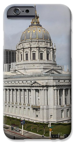 Palatial iPhone Cases - San Francisco City Hall 5D22544 iPhone Case by Wingsdomain Art and Photography
