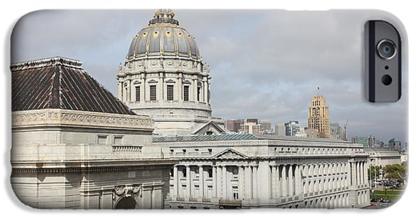 Palatial iPhone Cases - San Francisco City Hall 5D22547 iPhone Case by Wingsdomain Art and Photography