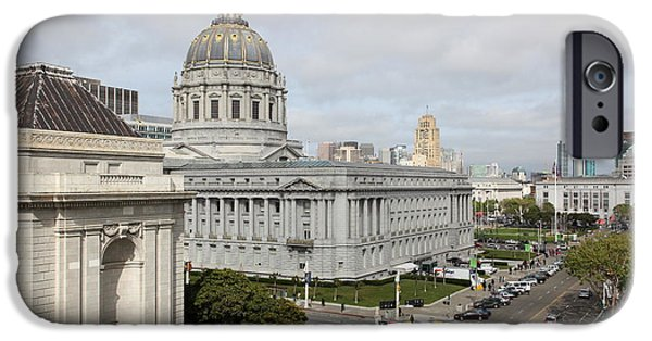 Palatial iPhone Cases - San Francisco City Hall 5D22554 iPhone Case by Wingsdomain Art and Photography