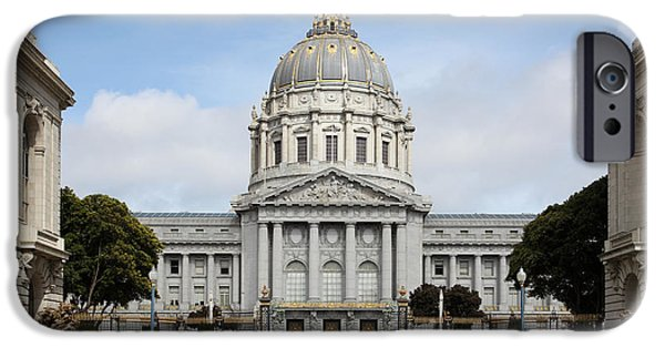 Palatial iPhone Cases - San Francisco City Hall 5D22568 iPhone Case by Wingsdomain Art and Photography