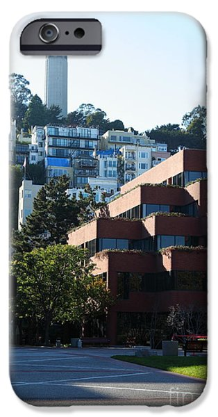 Levis iPhone Cases - San Francisco Coit Tower At Levis Plaza 5D26188 iPhone Case by Wingsdomain Art and Photography