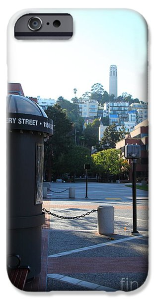 Levis iPhone Cases - San Francisco Coit Tower At Levis Plaza 5D26213 iPhone Case by Wingsdomain Art and Photography