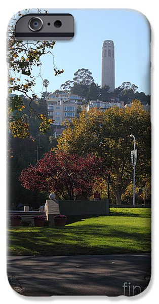 San Francisco Coit Tower At Levis Plaza 5D26217 iPhone Case by Wingsdomain Art and Photography