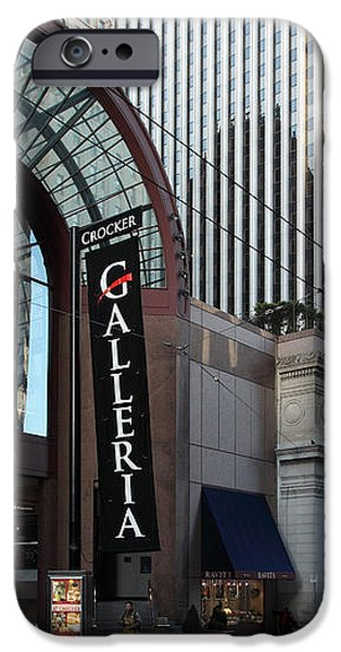 San Francisco Crocker Galleria - 5D20596 iPhone Case by Wingsdomain Art and Photography
