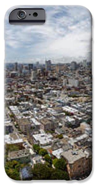 San Francisco Daytime Panoramic iPhone Case by Adam Romanowicz