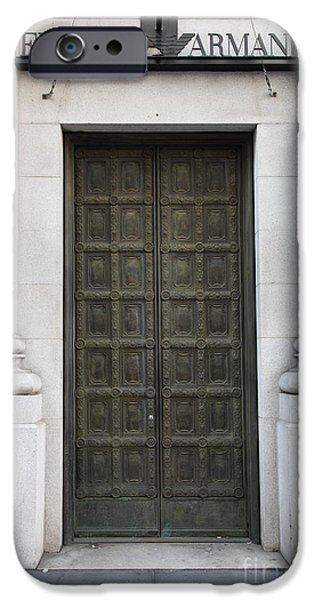 San Francisco Emporio Armani Store Doors - 5D20538 iPhone Case by Wingsdomain Art and Photography