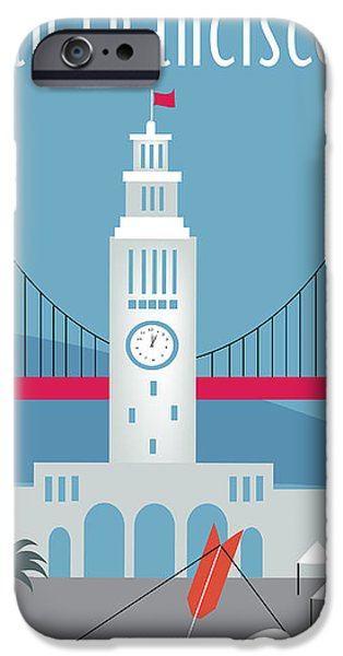 San Francisco Ferry Building iPhone Case by Karen Young
