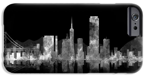 Alcatraz iPhone Cases - San Francisco Fog iPhone Case by Daniel Hagerman