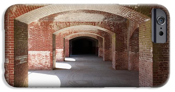 The Vault iPhone Cases - San Francisco Fort Point 5D21546 iPhone Case by Wingsdomain Art and Photography