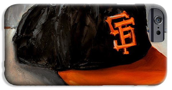 Baseball Art iPhone Cases - San Francisco Giants iPhone Case by Lindsay Frost