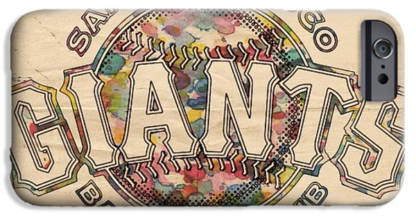 Baseball iPhone Cases - San Francisco Giants Poster Vintage iPhone Case by Florian Rodarte