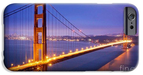 Bay Bridge iPhone Cases - San Francisco Golden Gate Bridge iPhone Case by Engel Ching